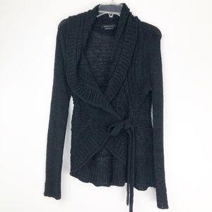 BCBGMaxarizia Womens Small Black Cardigan Sweater